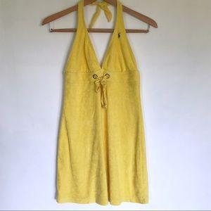 Ralph Lauren Yellow Terry Swim Coverup Size Medium